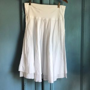 Tommy Bahama White Cotton layered skirt